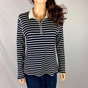 SALE 🌻 Ralph Lauren Navy White Striped Top